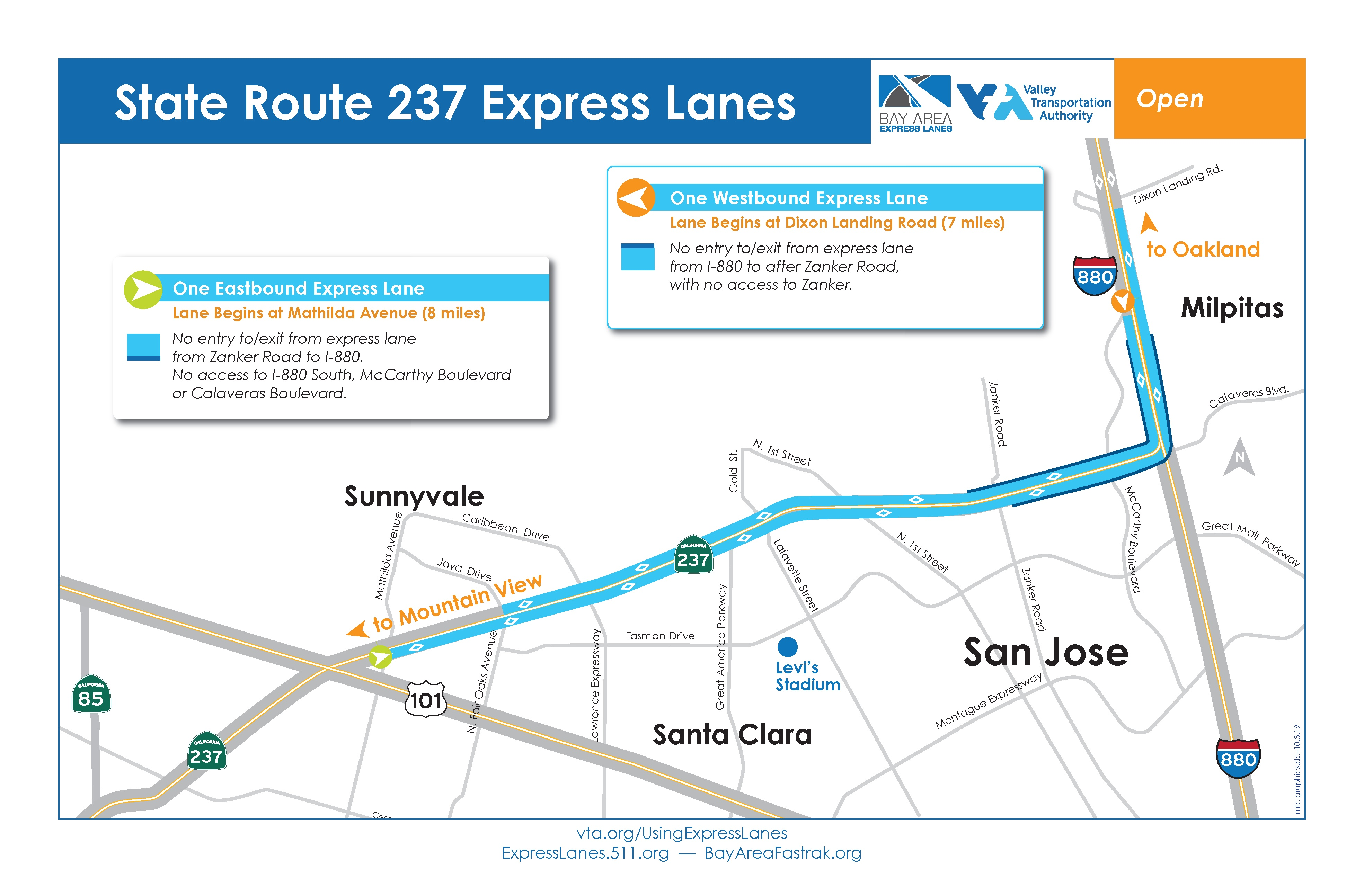B Sr 237 Express Lanes 511 Org Weekday & saturday service sunday serviceweekday & saturday service mapsunday service map. b sr 237 express lanes 511 org