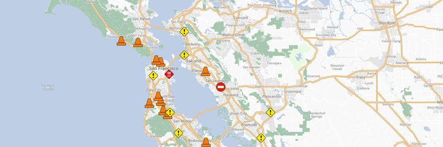 511 Traffic Map Bay Area Traffic Data | 511.org