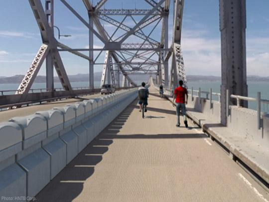 The Richmond San Rafael Bridge Bike-Pedestrian Path