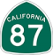 State Route 87 Road Sign