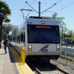 VTA Train Arriving at platform
