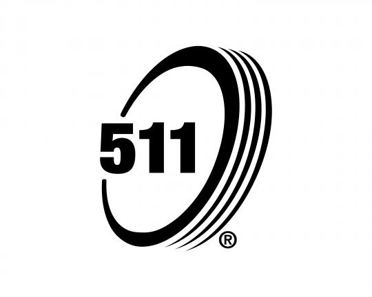 Black and White Logomark of 511