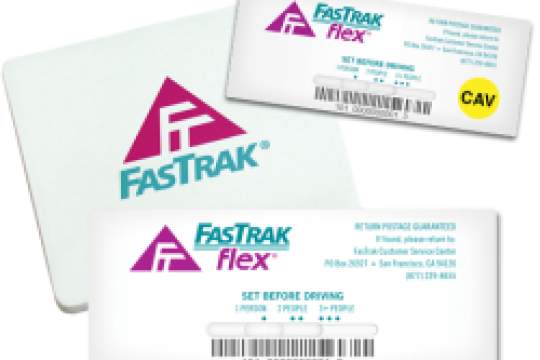 Standard Flex and CAV FasTrak Toll Tags